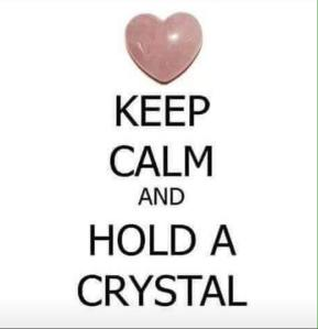 Hold a crystal