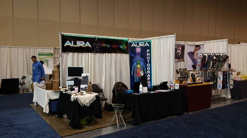 Aura photography at an expo