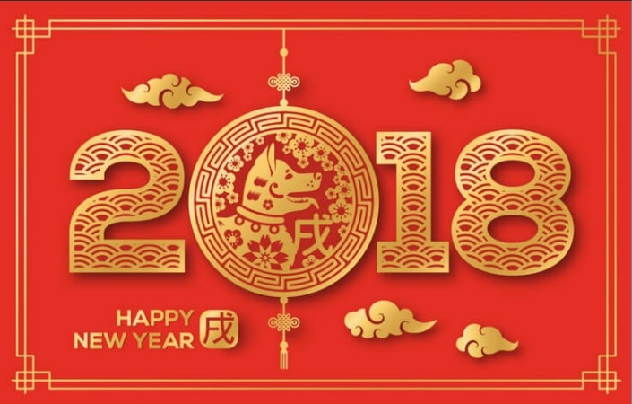 Year of the earth Dog 2018